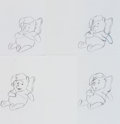 Animation Art:Production Drawing, Winnie the Pooh and Piglet TV Commercial Production DrawingAnimation Art Group (Walt Disney, 1990s).... (Total: 8 OriginalArt)