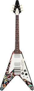 Musical Instruments:Electric Guitars, 2006 Gibson Jimi Hendrix Flying V Psychedelic Solid Body ElectricGuitar, Serial # JIMI186....