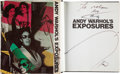 Books:Art & Architecture, Andy Warhol. Andy Warhol's Exposures. photographs byAndy Warhol text by Andy Warhol and Bob Colacello. New York...
