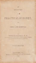Books:Americana & American History, [Civil War]. [Confederate Imprint]. Edward Warren, M. D. AnEpitome of Practical Surgery, for Field and Hospital. Ri...