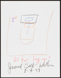 Movie/TV Memorabilia:Autographs and Signed Items, Jamaal Wilkes. Doodle for Hunger. Crayon on Paper. 8.5 x 11 Inches. Estimate: $100-$300. Condition: Fine. ...