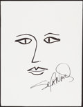 Movie/TV Memorabilia:Autographs and Signed Items, Sela Ward. Doodle for Hunger. Ink on Paper. 9.5 x 12.5Inches. Estimate: $100-$300. Condition: Fine. ...