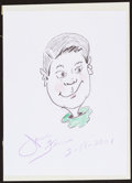 Movie/TV Memorabilia:Autographs and Signed Items, Jamie Farr. Doodle for Hunger. Crayon on Paper. 9.25 x 12.75Inches. Estimate: $100-$300. Condition: Mounted on board wi...