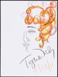 Movie/TV Memorabilia:Autographs and Signed Items, Tyne Daly. Doodle for Hunger. Crayon on Paper. 9 x 12Inches. Estimate: $100-$300. Condition: Fine. ...