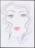 Movie/TV Memorabilia:Autographs and Signed Items, Sofia Milos. Doodle for Hunger. Crayon on Paper. 9 x 12.25 Inches. Estimate: $100-$300. Condition: Fine. ...