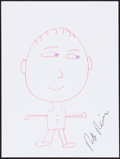 Movie/TV Memorabilia:Autographs and Signed Items, Rob Reiner. Doodle for Hunger. Crayon on Paper. 9 x 12Inches. Estimate: $100-$300. Condition: Fine. ...