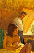 Pulp, Pulp-like, Digests, and Paperback Art, AMERICAN ARTIST (20th Century). Bella Vista's Wives, paperbackcover, 1963. Oil on board. 19.75 x 12.75 in. (sight). Not...(Total: 2 Items)