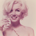 Photographs, BERT STERN (American, 1929-2013). Marilyn Monroe, Here's to You, (from the Last Sitting), 1962. Chromogenic. 19 x 19...
