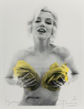 Photographs:Gelatin Silver, BERT STERN (American, 1929-2013). Marilyn With Yellow Roses,1962. Gelatin silver with hand tinted roses, printed and ha...