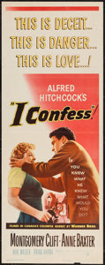 "Movie Posters:Hitchcock, I Confess (Warner Brothers, 1953). Insert (14"" X 36""). Hitchcock....."