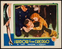 "The Widow from Chicago (First National, 1930). Lobby Card (11"" X 14""). Crime"