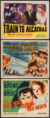 "The Man Who Talked Too Much & Others Lot (Warner Brothers, 1940). Title Lobby Cards (3) (11"" X 14""). Drama..."
