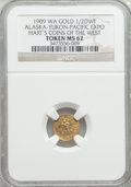 Expositions and Fairs, 1909 Alaska-Yukon-Pacific Exposition, 1/2 DWT, MS62 NGC. Hart'sCoins of the West....