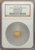 Expositions and Fairs, 1905 Lewis & Clark Exposition, Oregon 1/2 Gold, MS65 NGC....