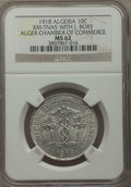 Algeria, Algeria: French Occupation. Alger Chamber of Commerce 10 Centimes1918 MS62 NGC,...