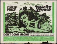 "Tower of London (United Artists, 1962). Half Sheet (22"" X 28""). Horror"