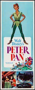 "Movie Posters:Animation, Peter Pan (Buena Vista, R-1976). Insert (14"" X 36""). Animation.. ..."