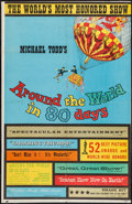 "Movie Posters:Adventure, Around the World in 80 Days (Michael Todd, R-1958). Trimmed OneSheet (25.5"" X 39.5""). Adventure.. ..."