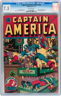 Golden Age (1938-1955):Superhero, Captain America Comics #28 (Timely, 1943) CGC VF- 7.5 Off-white pages....