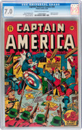 Golden Age (1938-1955):Superhero, Captain America Comics #29 (Timely, 1943) CGC FN/VF 7.0 Cream to off-white pages....