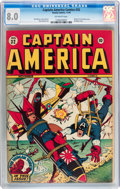 Golden Age (1938-1955):Superhero, Captain America Comics #32 (Timely, 1943) CGC VF 8.0 Off-white pages....