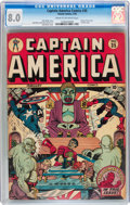 Golden Age (1938-1955):Superhero, Captain America Comics #35 (Timely, 1944) CGC VF 8.0 Cream to off-white pages....