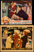 """Movie Posters:Comedy, Fools for Scandal & Other Lot (Warner Brothers, 1938). Lobby Card (11"""" X 14"""") & Trimmed Lobby Card (9.75"""" X 13""""). Comedy.. ... (Total: 2 Items)"""