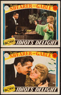 "Movie Posters:Comedy, Idiot's Delight (MGM, 1939). Lobby Cards (2) (11"" X 14""). Comedy..... (Total: 2 Items)"