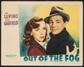 "Movie Posters:Crime, Out of the Fog (Warner Brothers, 1941). Lobby Card (11"" X 14"").Crime.. ..."