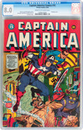 Golden Age (1938-1955):Superhero, Captain America Comics #15 (Timely, 1942) CGC VF 8.0 Cream to off-white pages....