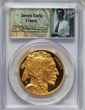 Modern Bullion Coins, 2014-W $50 One-Ounce Gold American Buffalo, First Strike MS70 PCGS. .9999 Fine Gold. Signature of James Earle Fraser. P...