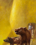 Pulp, Pulp-like, Digests, and Paperback Art, JOHN SCHOENHERR (American, 1935-2010). The Man from P.I.G.,paperback cover, 1967-68. Gouache on board. 19.25 x 15.25 in...(Total: 3 Items)