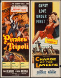 "Movie Posters:Action, Charge of the Lancers & Other Lot (Columbia, 1954). Inserts (2) (14"" X 36""). Action.. ... (Total: 2 Items)"