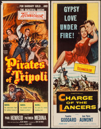 "Charge of the Lancers & Other Lot (Columbia, 1954). Inserts (2) (14"" X 36""). Action. ... (Total: 2 Items)"
