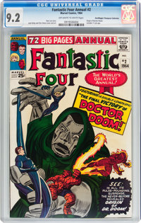 Fantastic Four Annual #2 Don/Maggie Thompson Collection pedigree (Marvel, 1964) CGC NM- 9.2 Off-white to white pages