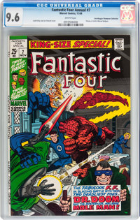 Fantastic Four Annual #7 Don/Maggie Thompson Collection pedigree (Marvel, 1969) CGC NM+ 9.6 White pages