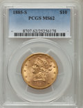 Liberty Eagles: , 1885-S $10 MS62 PCGS. PCGS Population (254/97). NGC Census: (233/56). Mintage: 228,000. Numismedia Wsl. Price for problem f...
