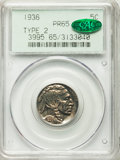 Proof Buffalo Nickels, 1936 5C Type Two -- Brilliant Finish PR65 PCGS. CAC....
