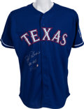 Baseball Collectibles:Uniforms, 2002 Rafael Palmeiro Game Worn Texas Rangers Home Run #465 Jersey....