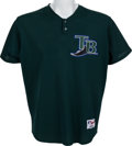 Baseball Collectibles:Uniforms, 2001 Fred McGriff Game Worn Tampa Bay Devil Rays BP Jersey. ...