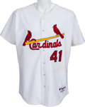 Baseball Collectibles:Uniforms, 2005 Yadier Molina Game Worn St. Louis Cardinals Jersey - Team Letter. ...