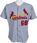 Baseball Collectibles:Uniforms, 2001 Albert Pujols Game Worn St. Louis Cardinals #68 Spring Training Jersey With Team Provenance. ...
