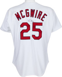 the best attitude bfbc4 9c643 1997 Mark McGwire Game Worn St. Louis Cardinals Jersey With ...