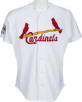 Baseball Collectibles:Uniforms, 1998 Red Schoendienst Game Worn St. Louis Cardinals Jersey - Team Letter. ...