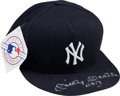 Baseball Collectibles:Hats, 1990's Mickey Mantle Signed New York Yankees Cap. ...