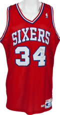 Basketball Collectibles:Uniforms, 1990 Charles Barkley Game Worn, Signed Philadelphia 76ers Jersey....