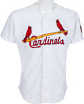 Baseball Collectibles:Uniforms, 1997 Dennis Eckersley Game Worn St. Louis Cardinals Jersey With Team Letter. ...