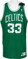 Basketball Collectibles:Uniforms, 1989-90 Larry Bird Game Worn Boston Celtics Uniform - With SpecialMemorial Band. ...