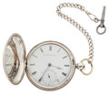 Timepieces:Pocket (pre 1900) , E. Howard Coin Silver Mershon's Patent Regulator Pocket Watch, No.1316. ...