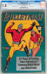 Bulletman #1 (Fawcett Publications, 1941) CGC GD- 1.8 Off-white to white pages